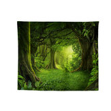 Wall Tapestry HD Printing Natural Forest Waterfall Hanging Pictures Polyester Hone Office Art Decor