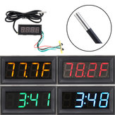 0.56 Inch 200V 3-in-1 Time + Temperature + Voltage Fahrenheit Display DC7-30V Voltmeter Electronic Watch Clock Digital Tube