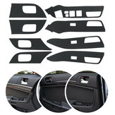 8pcs Car Carbon Fiber Armrest Handle Sticker Decoration For MITSUBISHI