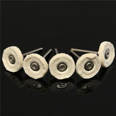 5pcs 25mm Felt Cloth Polishing Buffing Wheel for Rotary Grinder Tool