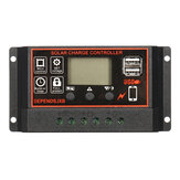 12v/24V Auto Solar Controller 10A-60A LCD Solar Charge Controller PWM Solar Panel Controller Solar Panel Battery Regulator With Dual USB Port