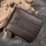 RFIDAntimagneticVintageEchtesLeder11 Kartensteckplätze Münztüte Brieftasche Für Männer