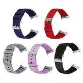 Bakeey Colorful Nylon Orologio di ricambio per tela Banda Cinturino per orologio Smart Fitbit Charge 3