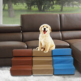 Dog Stairs Leather Pet Ladder Sponge Stairs Dog Teddy on Sofa on Bed Ladder