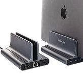 Vaydeer 6 em 1 Hub USB Docking Station Suporte Vertical para Laptop com Saída HDMI 4K Portas USB Gigabit Ethernet Para Notebook Laptop