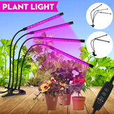2/3/4 Heads LED Grow Light Full Spectrum Plant Lamp for Indoor Vegetables Greenhouse with Power Adapter