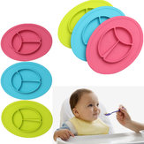 Baby Silicone Placemat  Kids Divided Dish Bowl Plates Kitchen Mats Pads