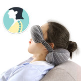 2 In 1 Portable Cotton Neck Pillow Head Cushion Eye Mask Travel Airplane Sleep Rest