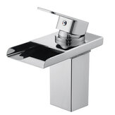 Modern Brass Chrome Mixer Tap Waterfall Kitchen Bathroom Basin Sink Faucet Holes