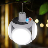 Solar Power LED Flying Saucer Bulb Adjustable Lamp Blade Outdoor Emergency Camping Light