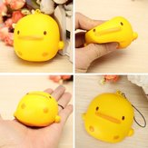 Squishy Yellow Duck Soft Cute Kawaii Phone Bolsa Strap Toy Gift 7 * 6.5 * 4cm