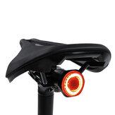 COB LED Feu arrière de vélo 100lm 7 Modes Lumière de siège de vélo réglable Rotation à 180 ° Étanche USB Charge Vélo Veilleuse