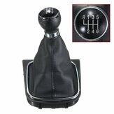 6 Speed Car Gear Shift Knob Gaiter Boot Manual For VW Golf Jetta MK5 MK6