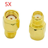 5ks SMA Female To RP-SMA Male Adapter Connector pro RC Drone FPV Racing
