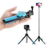 RUIGPRO 2 in 1 bluetooth Extendable Folding Tripod Gimbal Extension Rod Stick For Gopro Action Camera Mobile Phone Non-original