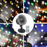 4 LED Projection Stage Light Outdoor Christmas Mini Snowflake Lamp with Remote Control for Party Festival