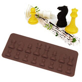 Honana CF-BW16 Molde de Bolo de Fondant de Chess de Silicone Chocolate Sugar Candy Sugar Bakeware Decorating Tool