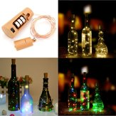 Baterai Powered 80CM Cork Berbentuk Kawat Tembaga LED Night Starry Wine Bottle HoliDay Light untuk Xmas