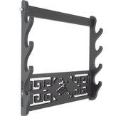Suporte de parede de 4 camadas Suporte de parede Samurai Display Katana Wall cabide Porta-ferramentas