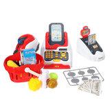 24 PCS多機能スーパーマーケットシミュレーションレジ子供の家族のツールのインタラクティブなセットのおもちゃ