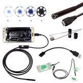 DANIU Inspection Endoscopique Caméra Etanche 5.5mm Digital 5m USB pour Téléphone Android