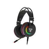 FANTECH HG23 Permainan Headphone 7.1 Surround Sound RGB USB Kabel Bass Gaming Headset dengan Mic untuk Komputer PC PS4 Gamer