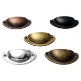 Poignées de tiroirs de porte de tiroir armoire de placard rétro Accueil meubles de cuisine poignée demi-lune Shell