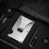 Slim Credit Card Holder Aluminium ID Card Holder Man Wallet with RFID Anti-theft Protection
