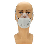 Anti Dust Face Mask Mouth PM2.5 Anti Fog Haze Respirator med elektrostatisk KN95-filter