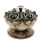 Lotus Cone Incense Burner Holder Flower Statue Censer Chinese Style Buddhist Meditation Home Decor