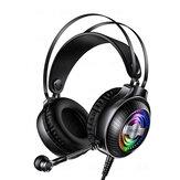 YINDIAO Q4 Ακουστικό παιχνιδιού 3,5 χιλιοστά ενσύρματο μπάσο RGB Ακουστικό παιχνιδιού Στερεοφωνικό ακουστικό ήχου με μικρόφωνο για φορητό υπολογ