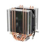 برج تبريد وحدة المعالجة المركزية المزدوجة لـ انتل LGA 775/1150/1151/1155/1156/1366 AMD 4 Heatpipe Radiator Quiet Cooling Fan Cooler لأجهزة الكمبيوتر