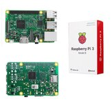 Raspberry Pi 3 Model B ARM Cortex-A53 CPU 1,2 GHz 64-bits quad-core 1 GB RAM 10 keer B+