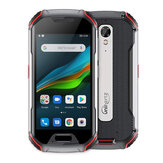 UNIHERTZ Atom L IP68 Waterproof 4300mAh 4.0 inch Touch Screen 4G Rugged Smart Phone 6GB+128GB Android 10 Fingerprint & Face Global Unlocked Dual Camera FM Radio with NFC Infrared Fast Charging Dual SIM Dual Standby Phone