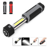 3W DC6V Retractable COB LED Work Light Flashlight Magnetic Emergency Lamp Outdoor Camping Lantern