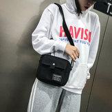 Women Canvas Hip-hop Crossbody Bag Shoulder Bag