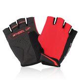 Universelles Motorradfahren Halbfinger Fingerlose Handschuhe Größe M
