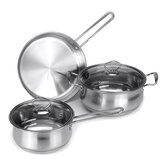 家庭用調理器具セット3ピースステンレスキッチンポット鍋鍋キット