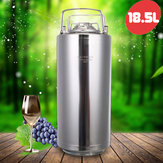 18.5L 304 Stainless Steel Home Brew Keg Bottles Growler Fresh Be Making Barrels
