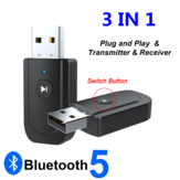 ENKAY SY318 bluetooth 5.0 odbiornik audio nadajnik Adapter 3.5mm Jack AUX USB stereo muzyka adapter bezprzewodowy do telewizora samochodowe słuchawki komputerowe