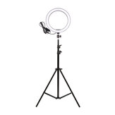 16cm LED Ring Light Dimmable LED Beauty Ring Fill Light Photography for Selfie Live Stream Broadcast with Tripod Stand for Youtube Vloging