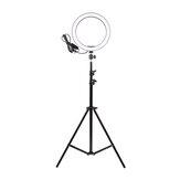 16cm LEDリングライト調光可能LED美容リングフィルライト写真撮影用Selfieライブストリームブロードキャスト三脚スタンド付きYoutube Vloging
