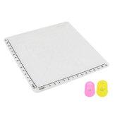 Blanco tipo A Silicona Diseño Tapete con plantilla básica + aislamiento Silicona Kit de tapas para dedos Impresión 3D Pluma Dibujo herramientas