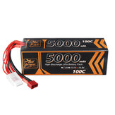 ZOP Power 14.8V 5000mAh 100C 4S  Lipo Battery T Deans Plug for RC Car