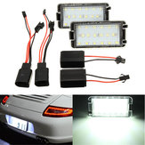 2 x 18 LED Licence Number Plate Light For Seat Altea Arosa Cordoba Ibiza White