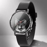 Relógio de quartzo da moda com estampa de animal, homem, negócios, relógio bonito, preto e branco, cães, gatos Padrão, feminino, relógio, quartzo