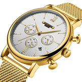 GIMTO GM246 Calendar Chronograph Stainless Steel Quart Watch
