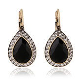 Retro Black Crystal Earring