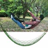 Nylon tissé 270x100 cm hamac lit simple personnes hamac balançoire Camping voyage jardin charge maximale 150 kg