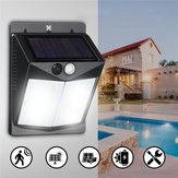 Solar 40 LED Wall ضوء PIR Motion ضد للماء Outdoor Wide Angle Security Lamp